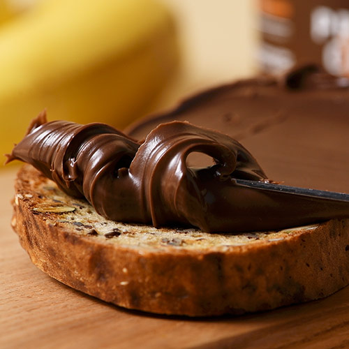 tranche de pain et pâte à tartiner