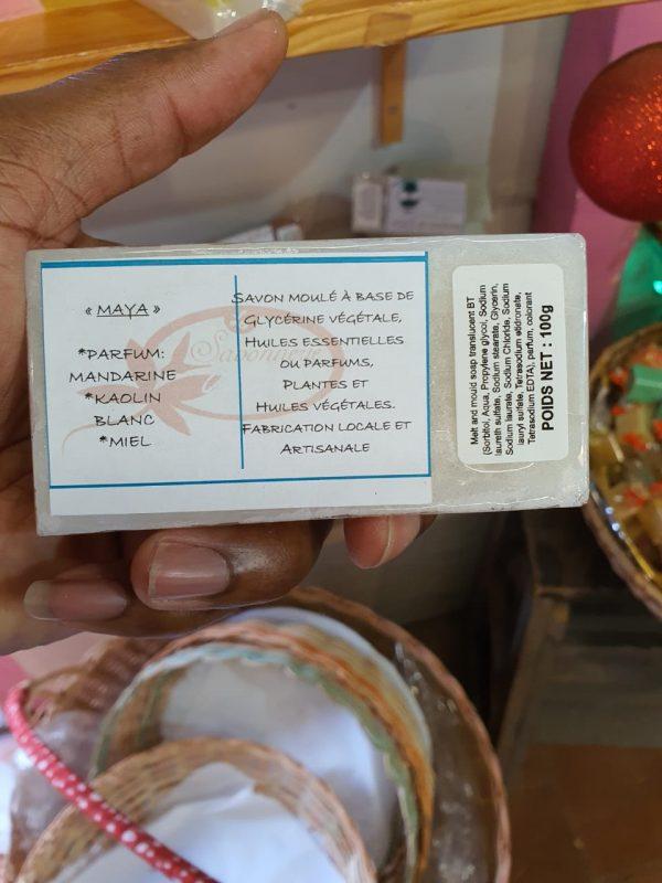 savon maya mandarine kaolin blanc miel