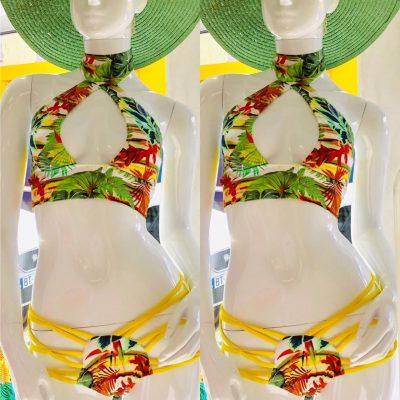 Kairosea-maillot de bain-Champetre-vert-Chabine bikini